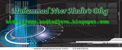 Muhammad Noer Hadie's Blog