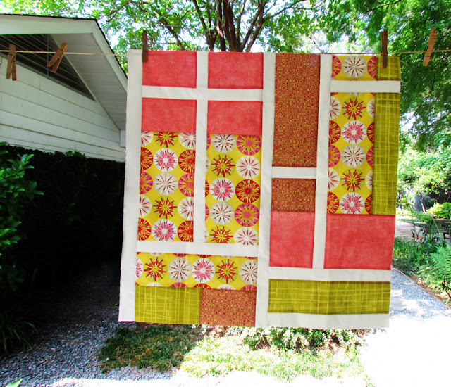 Sew, Mama, Sew! BOM 2 - Stained Glass big sized quilt block