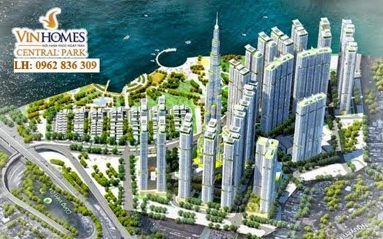 Tổng thể dự án Vinhomes Central Park Tân Cảng