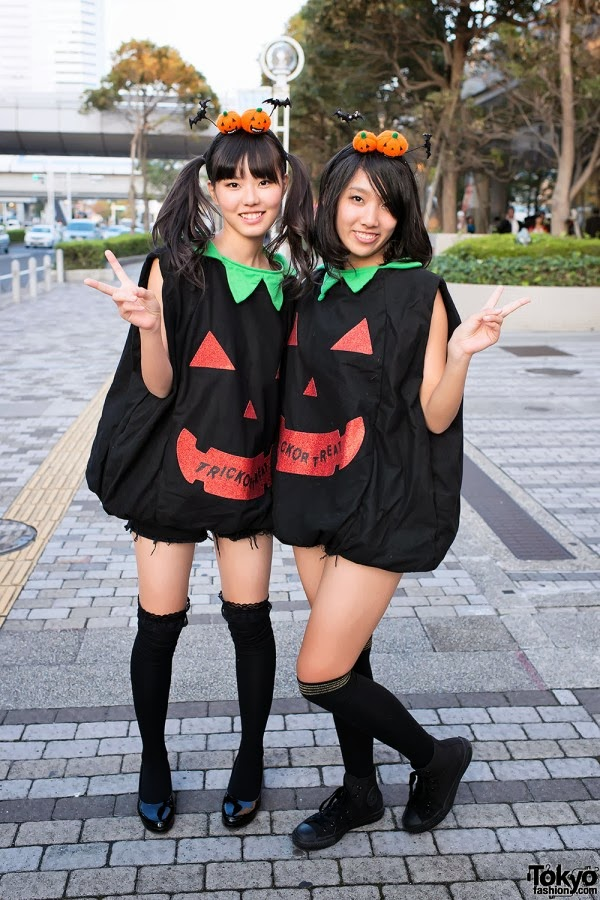 Cute Japanese pumpkin girls