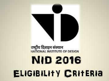 NID 2015 Eligibility Criteria Logo