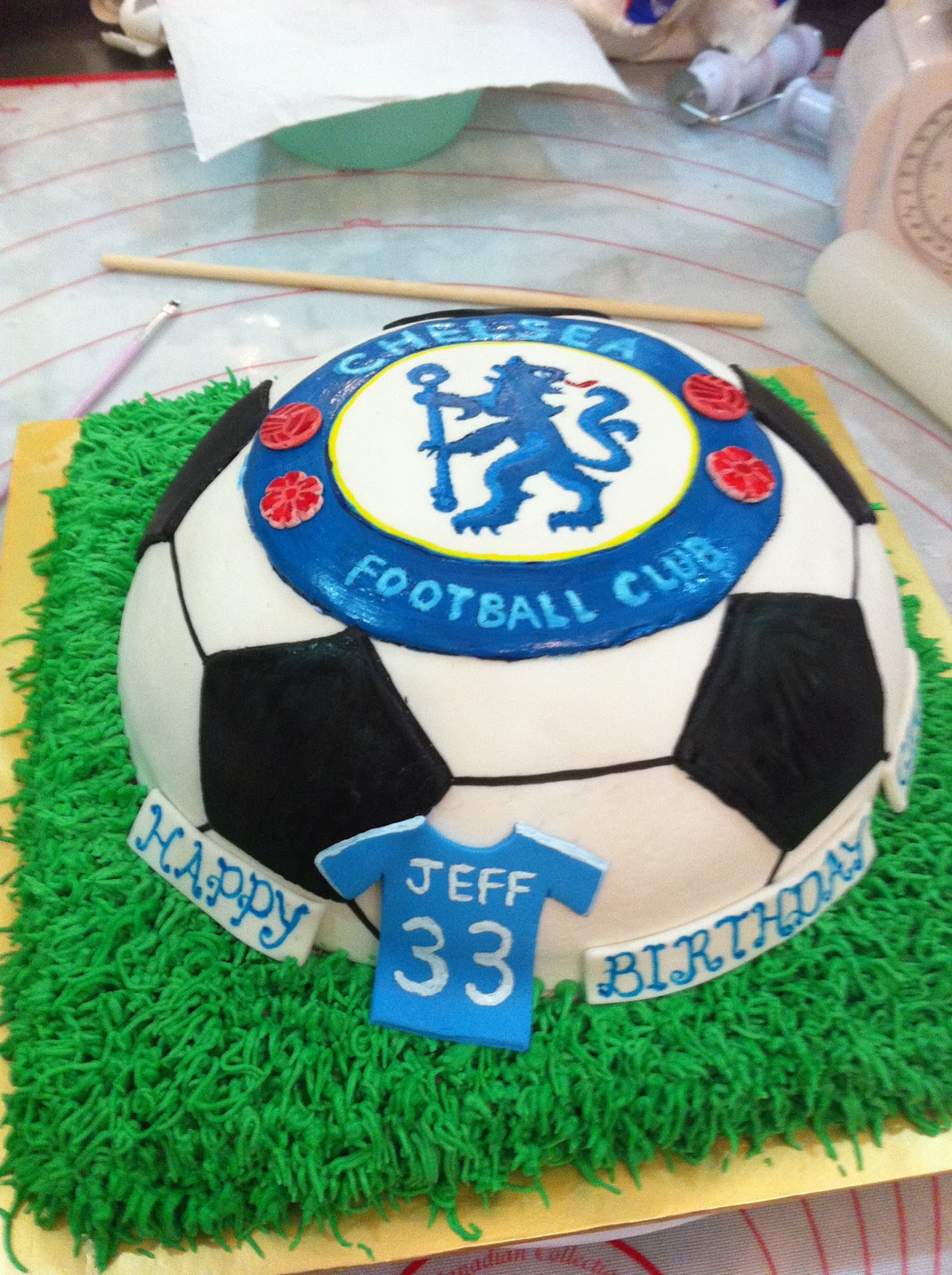 510956981 Chelsea soccer cake done and ready to serve! Hope you enjoyed this. If you  wanna see more