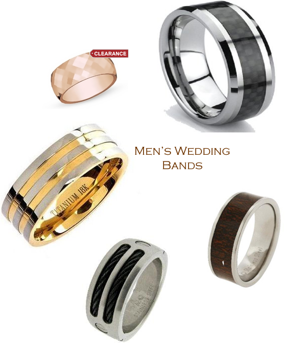 Cheap Mens Wedding Bands