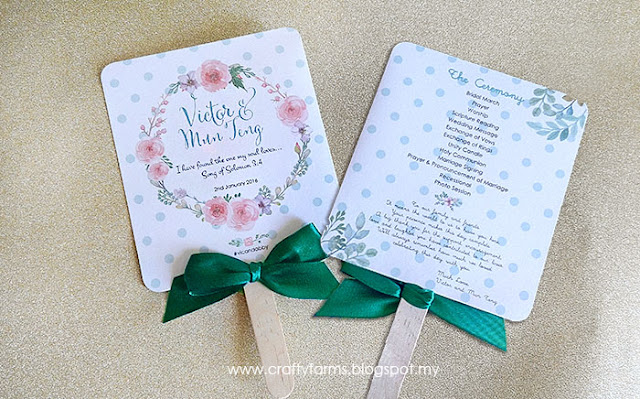 Mint Green Wedding Ceremony Program Fans