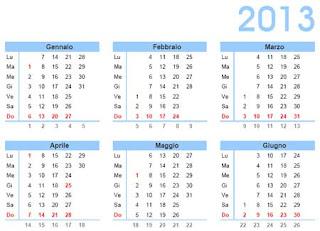 Calendari annuali 2013