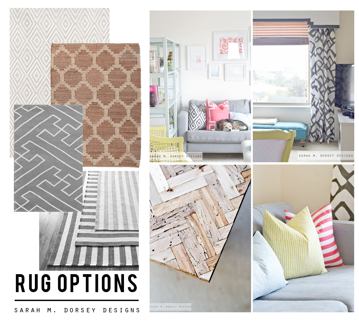 sarah m. dorsey designs: DIY Rug Ideas for the Living Room