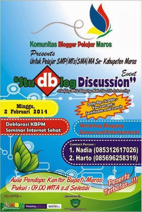 Studblog Discussion Event Ajang Kreatifitas Blogger Muda Maros