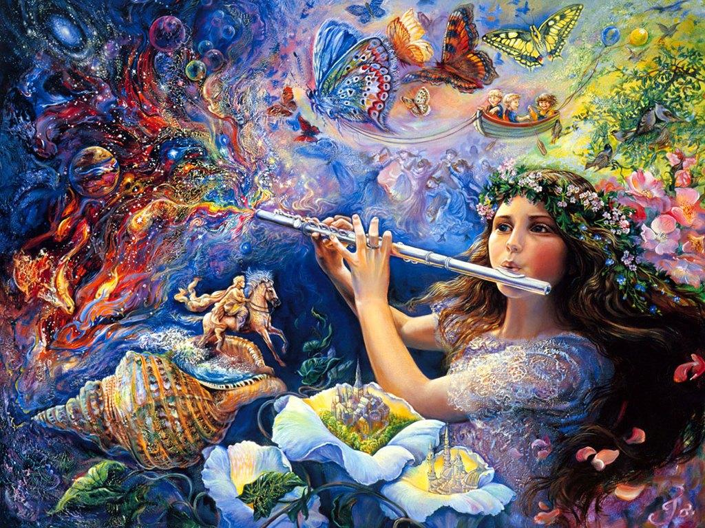 Fantasy art painting josephine wall art for your for Artiste nature