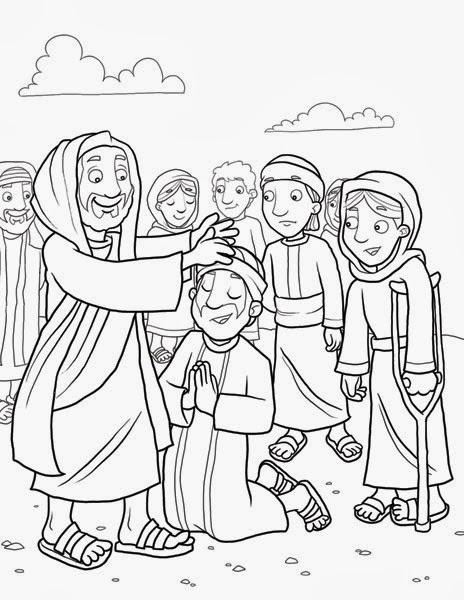 Me aburre la religi n diez leprosos son sanados for Jesus heals ten lepers coloring page