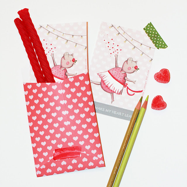 how to make a valentine envelope elementary school