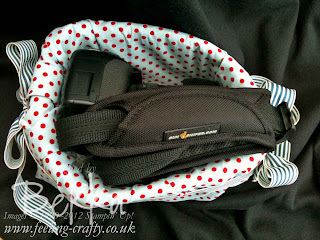 No Sew Camera Protector for a Handbag by Bekka www.feeling-crafty.co.uk