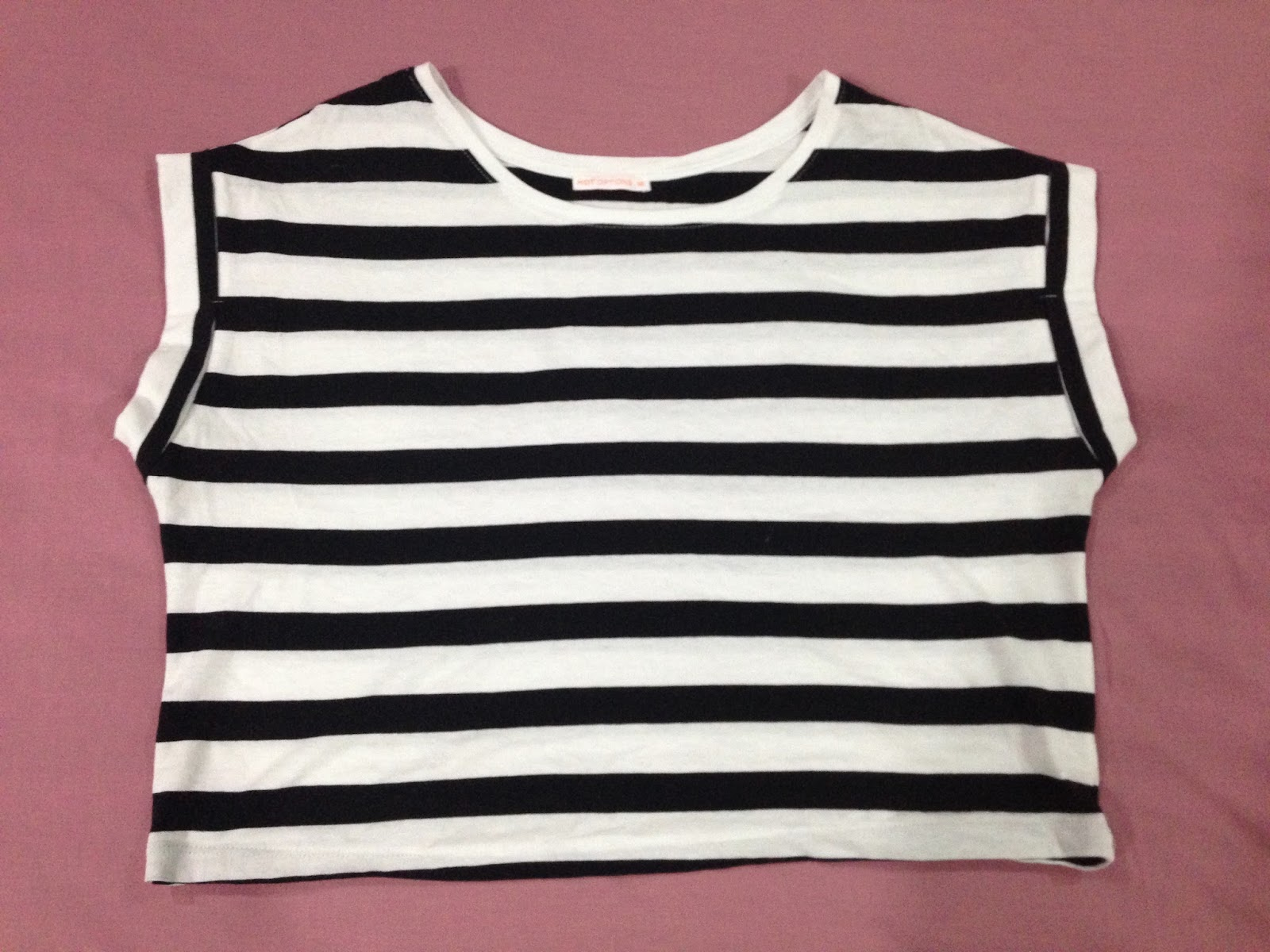 Target 'Hot Options' Monochrome Striped Cropped Shirt