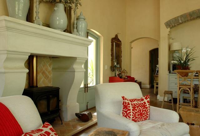 Slate tile fireplace hearth
