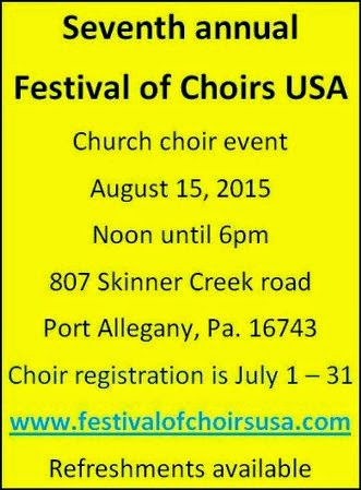 8-15 Festival of Choirs USA