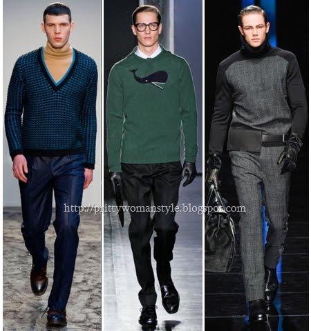 Модни мъжки пуловери 2013