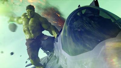 Hulk the Avengers plane