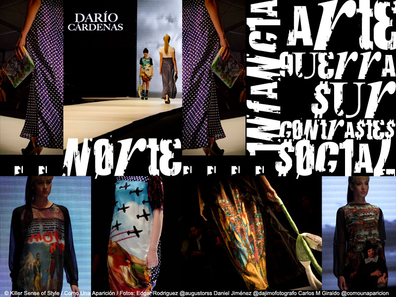 círculo de la moda de bogotá - dario cárdenas - como una aparición - killer sense of style - desfiles - moda - colombia - estampados