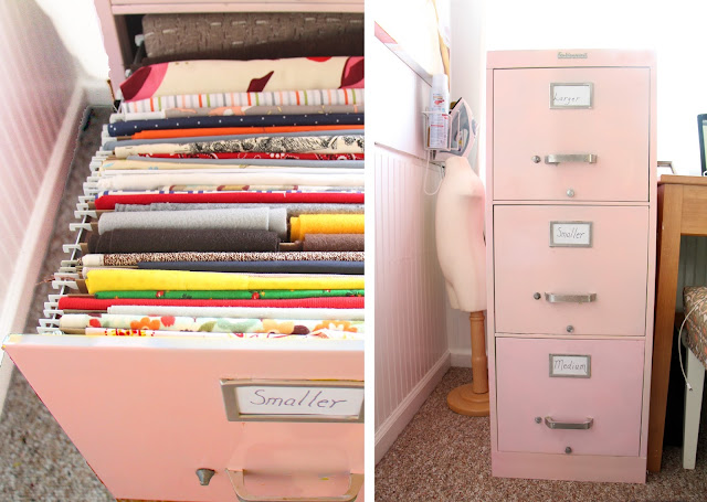How to Declutter your fabric stash From Grosgrain Fab