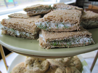 dill goat cheese and lemon delight vinegar tea sandwiches - ponyboy press