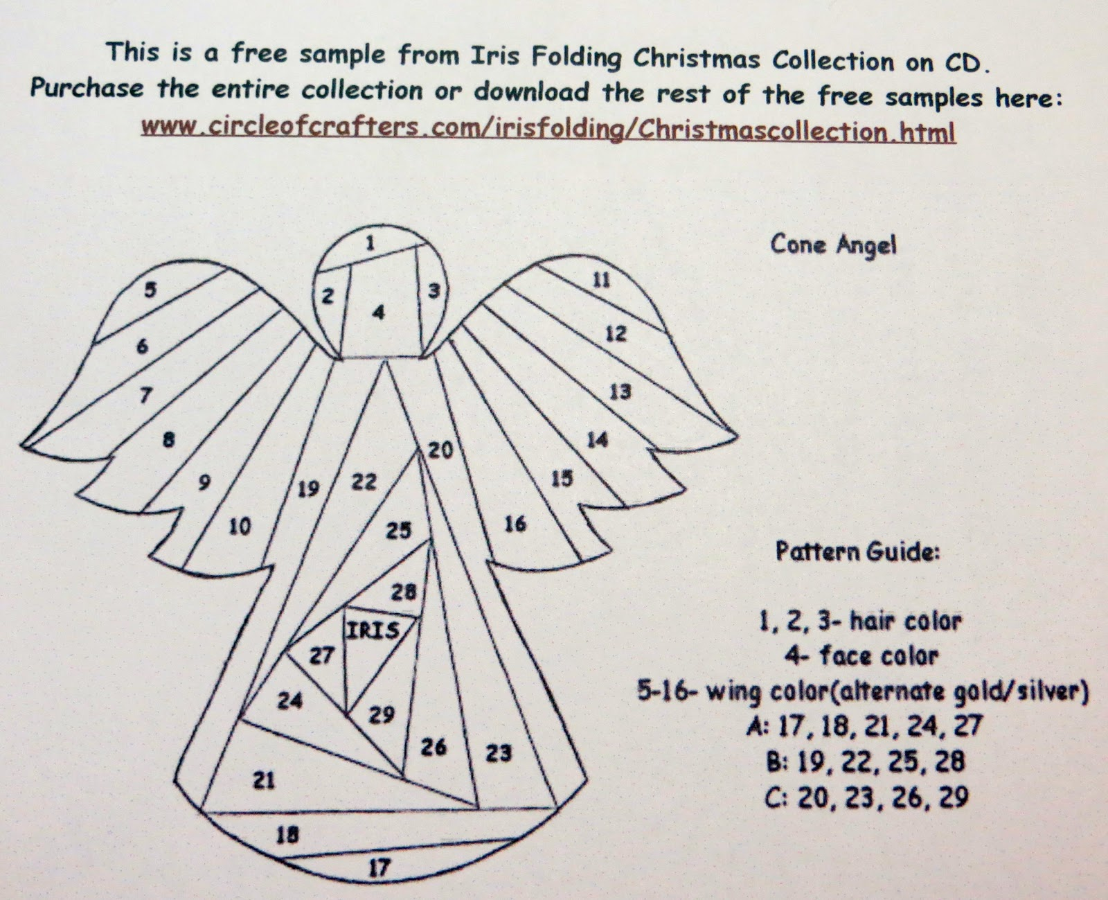 This angel and its instructions can be found on the web link at the ...
