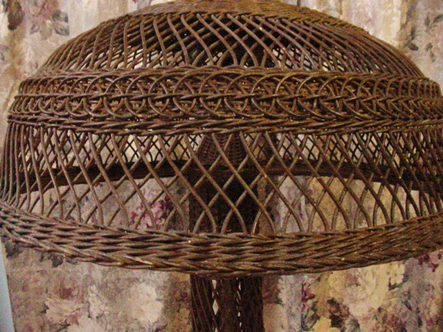 Designs by laura vintage finds antique wicker floor lamp antique wicker floor lamp aloadofball Images