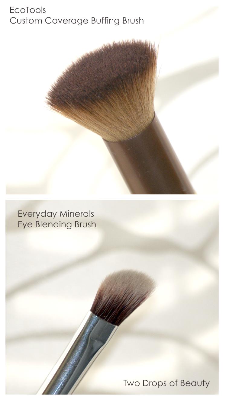 Everyday Minerals (Eye Blending Brush).EcoTools. Custom Coverage Buffing Brush.