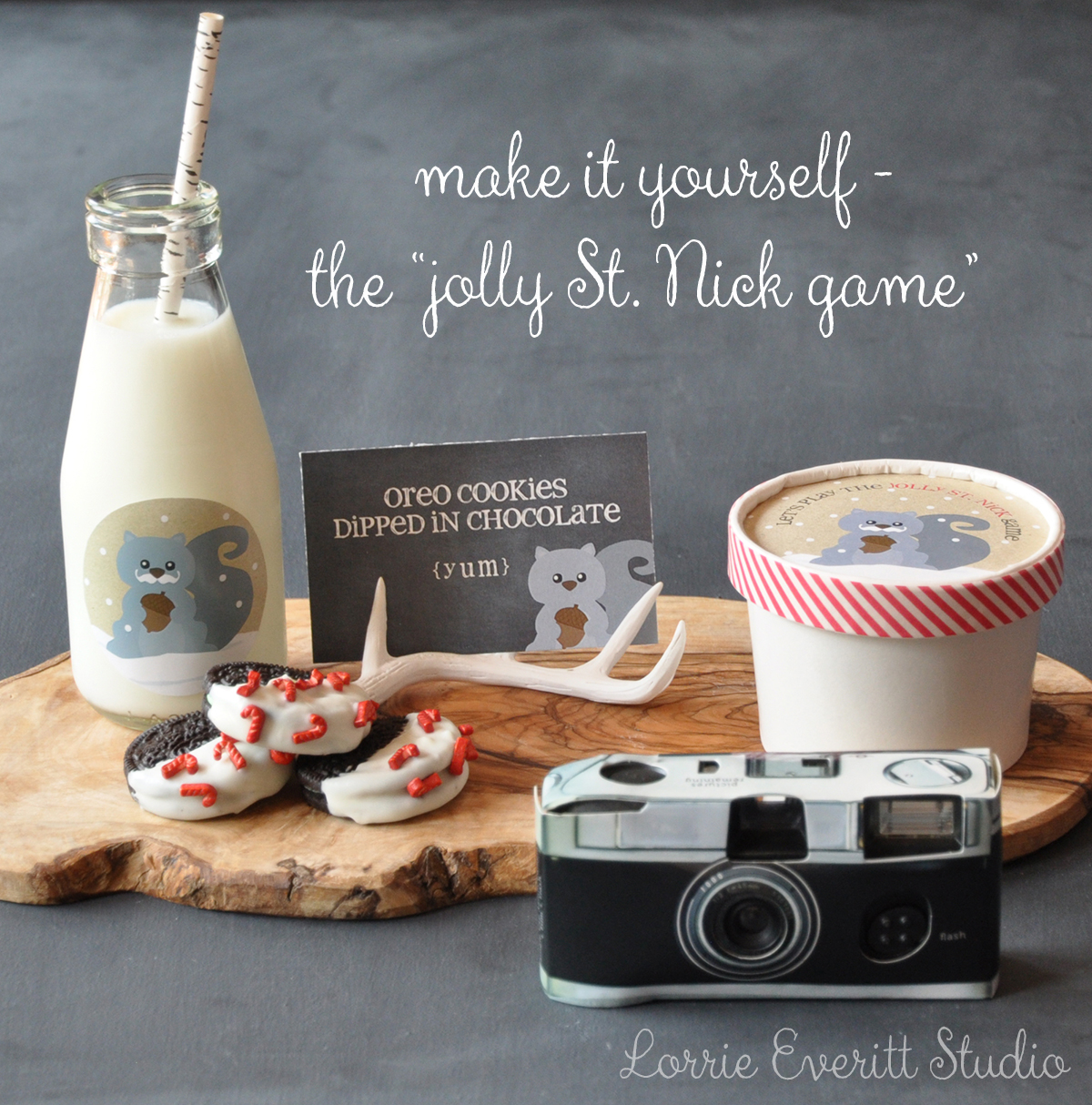 make it yourself - the jolly St. Nick game | Lorrie Everitt Studio