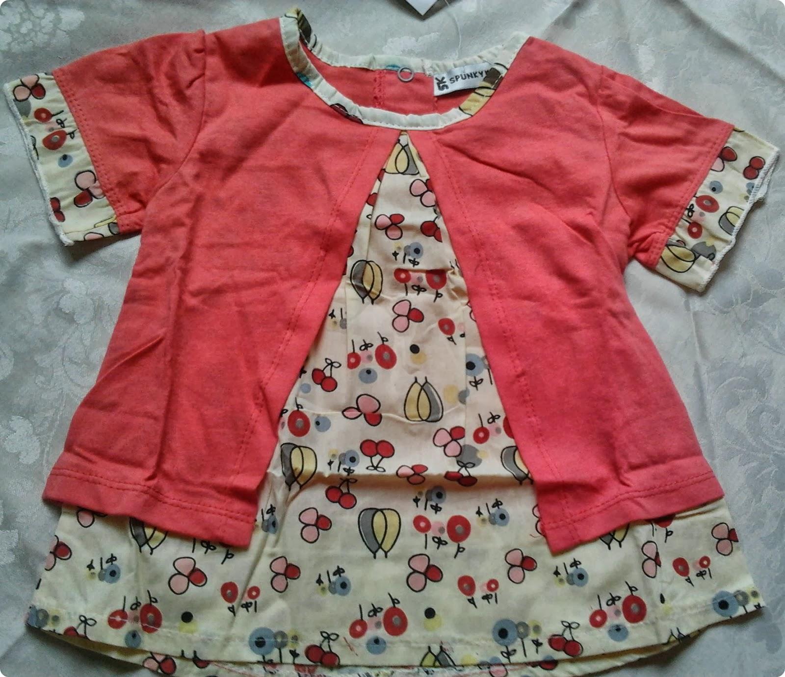 Conjunto Infantil Menina comprado no Ebay da China