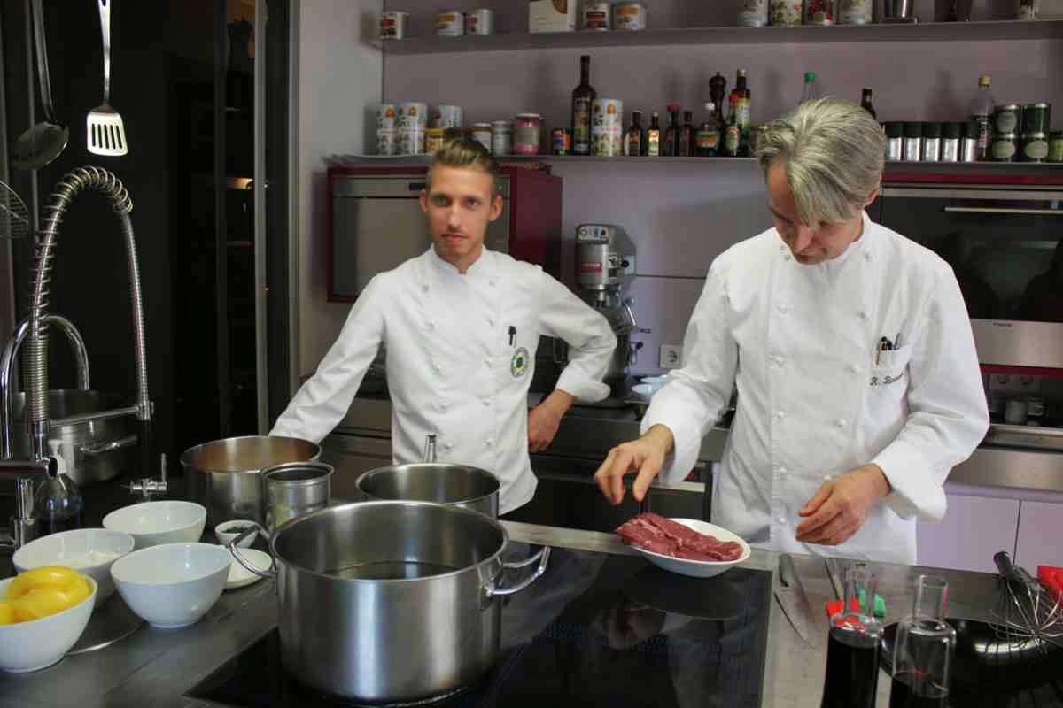 Wir kochen mit Haubenkoch Richard Brunnauer und seinem Sous-Chef
