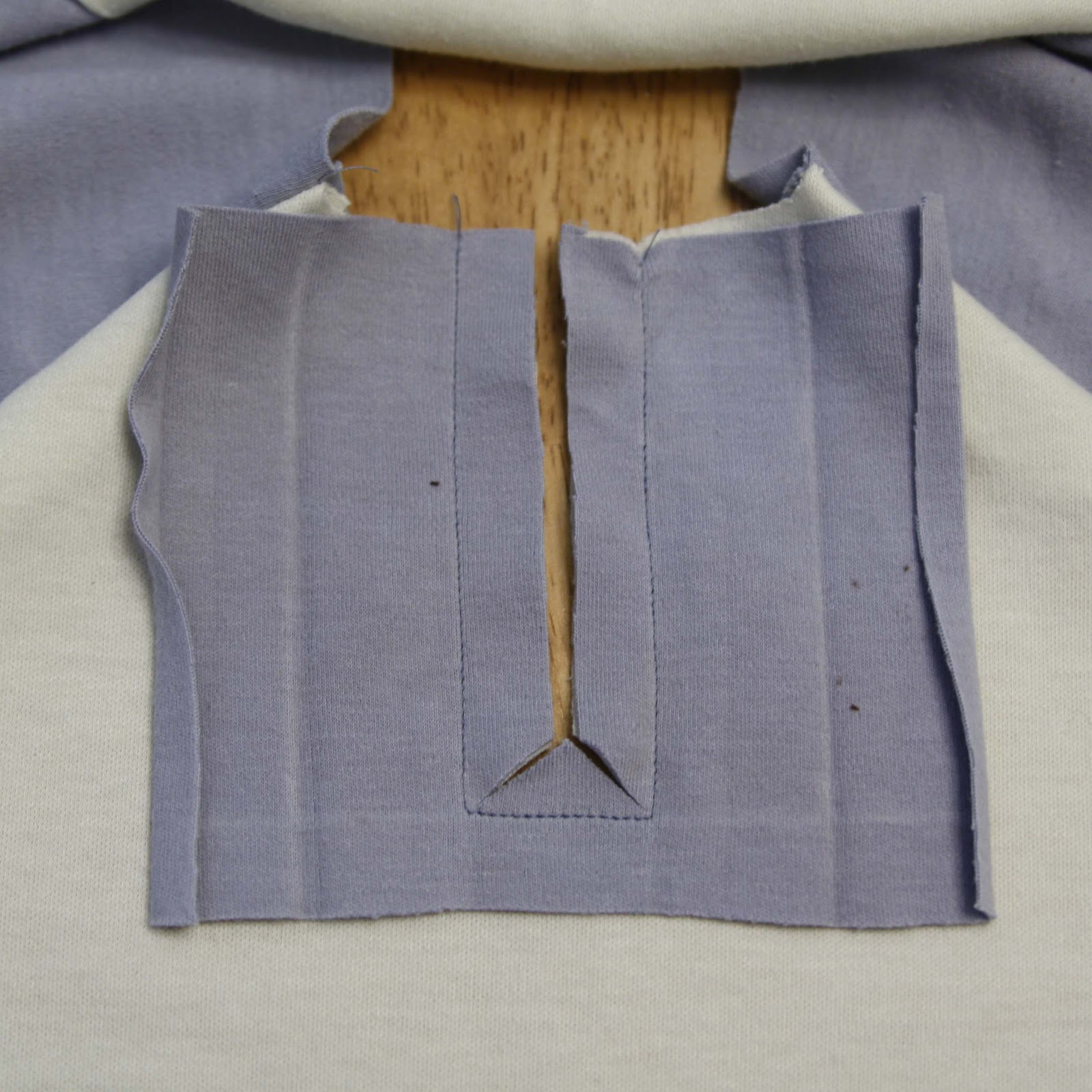 Henley t shirt placket melly sews stop about 14 from the bottom and cut into the corners making an upside down y shape cut as close into the corners as you can without going through the jeuxipadfo Image collections