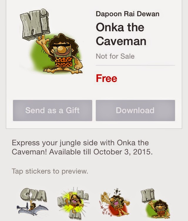 Onka the Caveman sticker