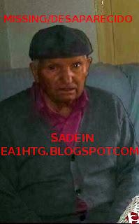85 años Sufre alzheimer, tiene dificultad para andar  Viste pantalón azul y chaqueta gris