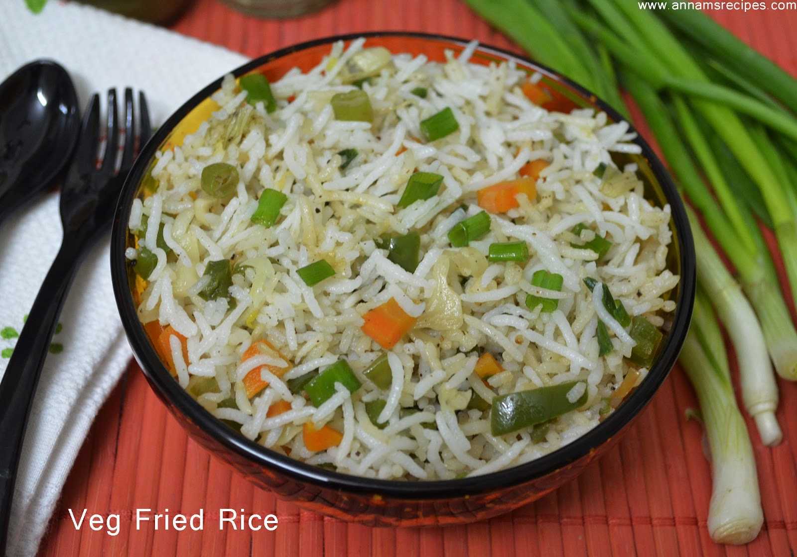 Veg Fried Rice / Chinese Fried Rice | Annam's Recipes