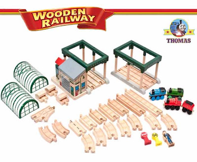 Talking Railway standard wood Thomas the train and friends engine toys Knapford Station 30 parts