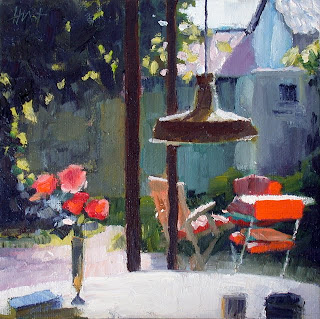 Small Courtyard by Liza Hirst