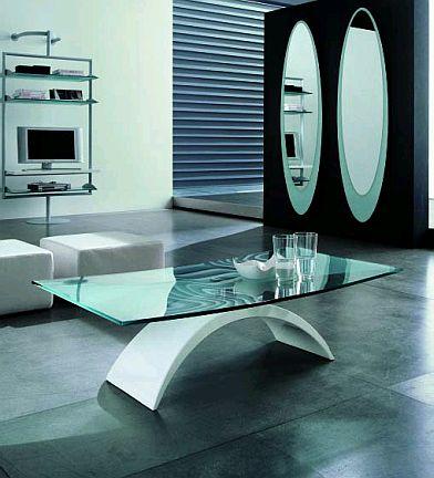 Mesas de centro modernas de color blanco - Mesas de vidrio modernas ...