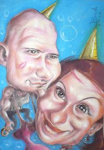 Cadou caricatură-cerere în căsătorie 2012-Botoşani