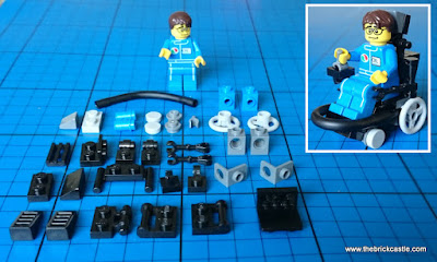 Components to make LEGO Electric Wheelchair Child Football
