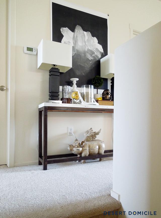 DIY 18 Console Table Desert Domicile : StyledStaircaseLanding3 from www.desertdomicile.com size 640 x 864 jpeg 370kB
