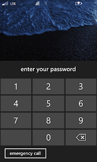 Lock Screen on Nokia Lumia 620