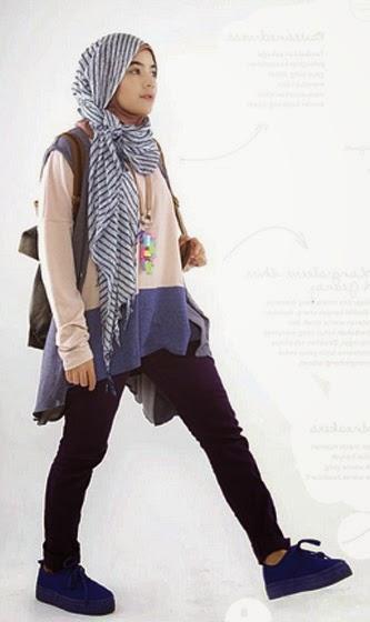 Model Baju Hijab Trendy Untuk Kuliah Indo Fashion