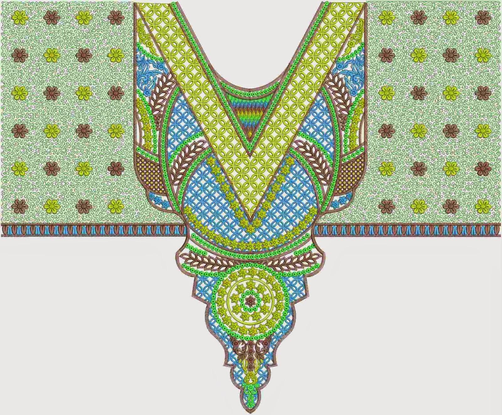 kraal borduursteke nek ontwerp