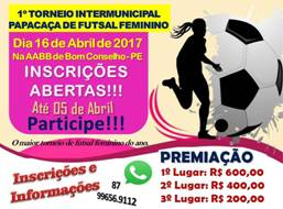Torneio Papacaça de Futsal Feminino