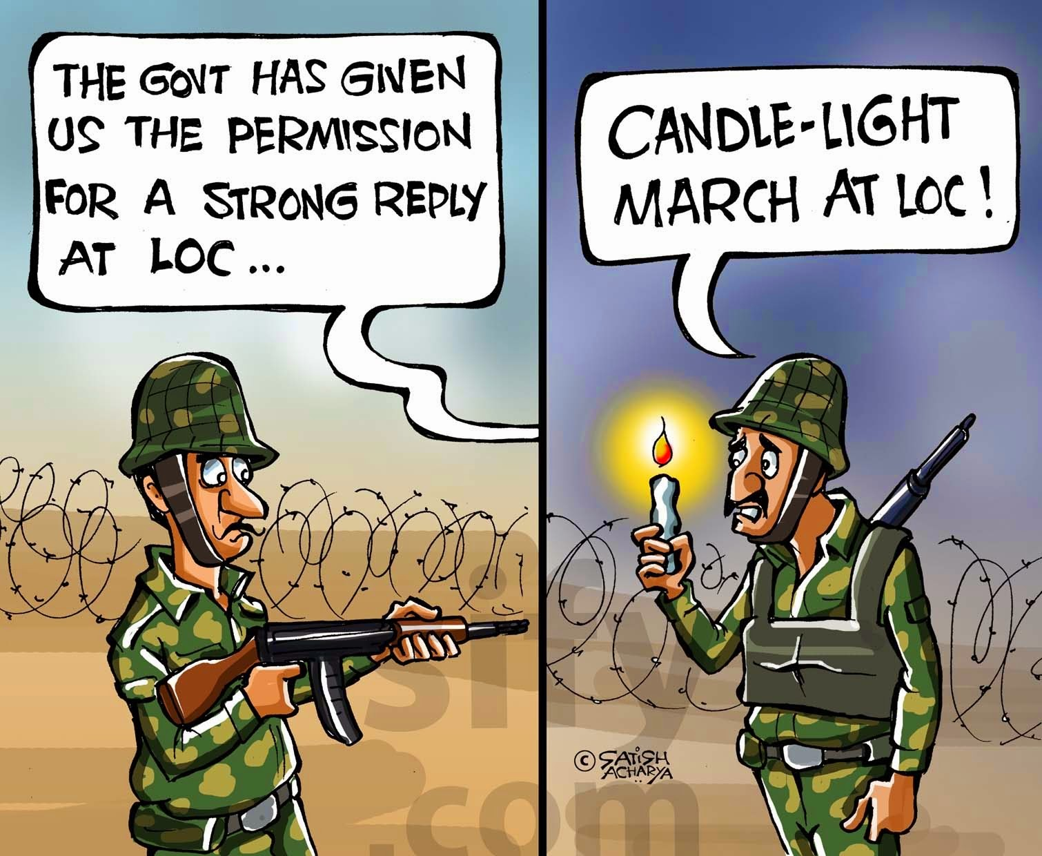 Political infuluences in Army Funny Comic Cartoons, Images