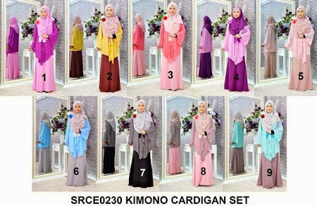 PAsti Memukau Dengan Cardigan Chiffon Kimono Exclusive Raya Dengan  Pattern Pasti Memukau Pandangan