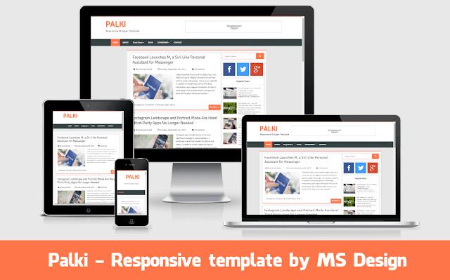 Responsive free blogspot blogger template 2016