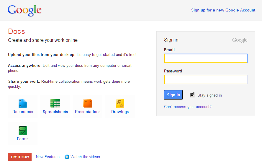 matt cutts With google docs login and password