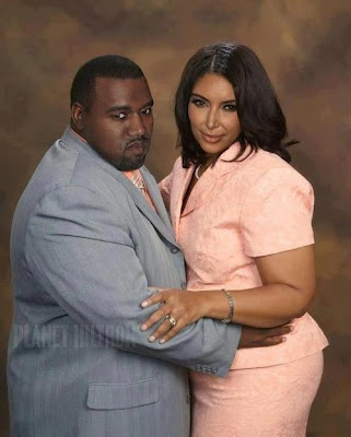 Kim Kardashian And Kanye West Grown Fat