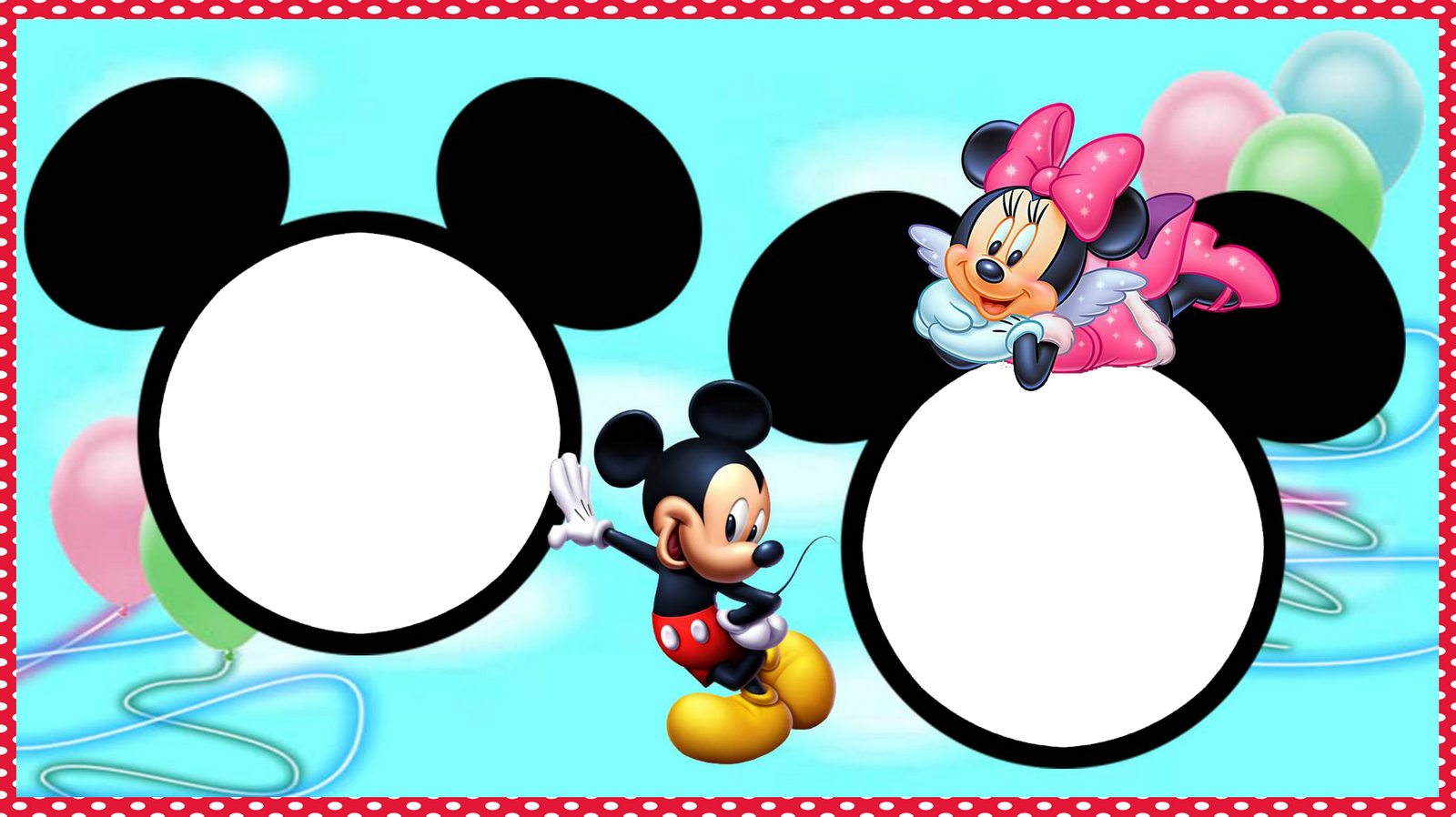 MOLDURA MICKEY E MINNIE 1600 x 898 1114 kB png