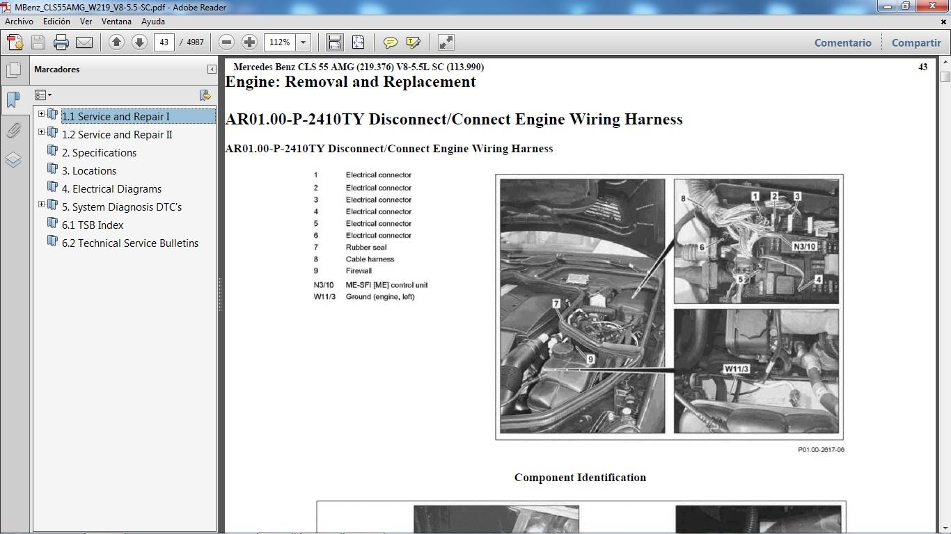 Manuales De Taller Mercedes Benz Diagram Of 98 Ml320 Engine Click En La Imagen Para Aumentar